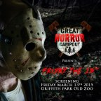 Outdoor Movie Night! See Friday 13th on Friday the 13th, presented by The Great Horror Campout