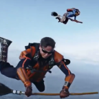 Watch these Colombian skydivers play a heart-pounding game of real-life Quidditch mid-air.