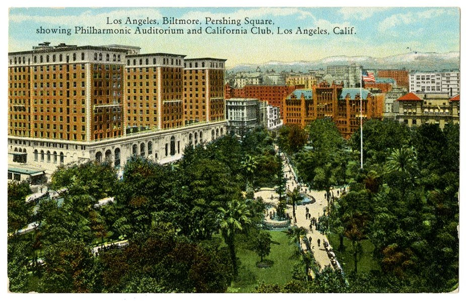 Los Angeles, Biltmore, Pershing Square, showing Philharm