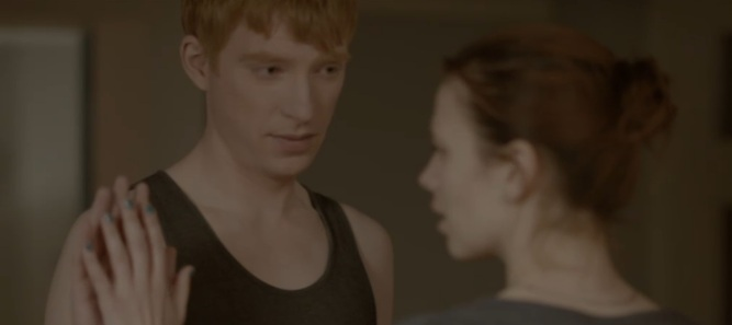 """Domhnall Gleeson and Haley Atwell in """"Be Right Back"""""""